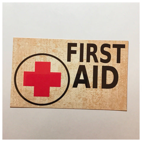Vintage First Aid Medical Sign - The Renmy Store