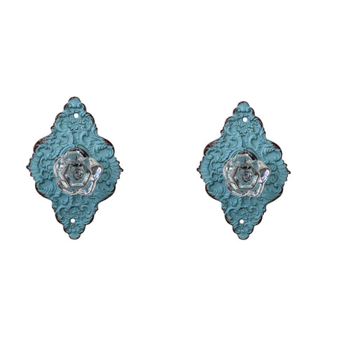 Hook Knob Set Of 2 Blue Diamond DIY - The Renmy Store