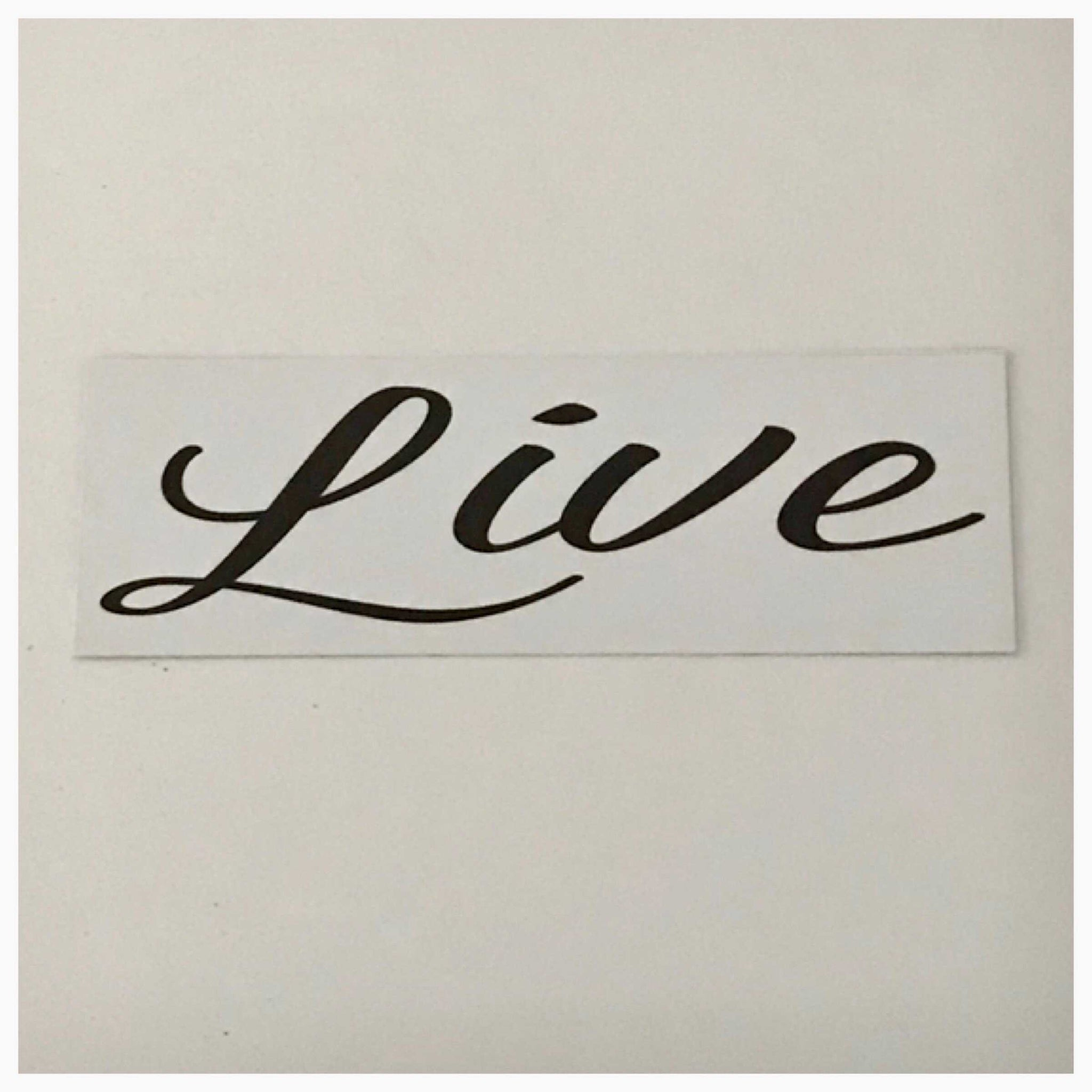 Live Word White Sign Wall Plaque or Hanging
