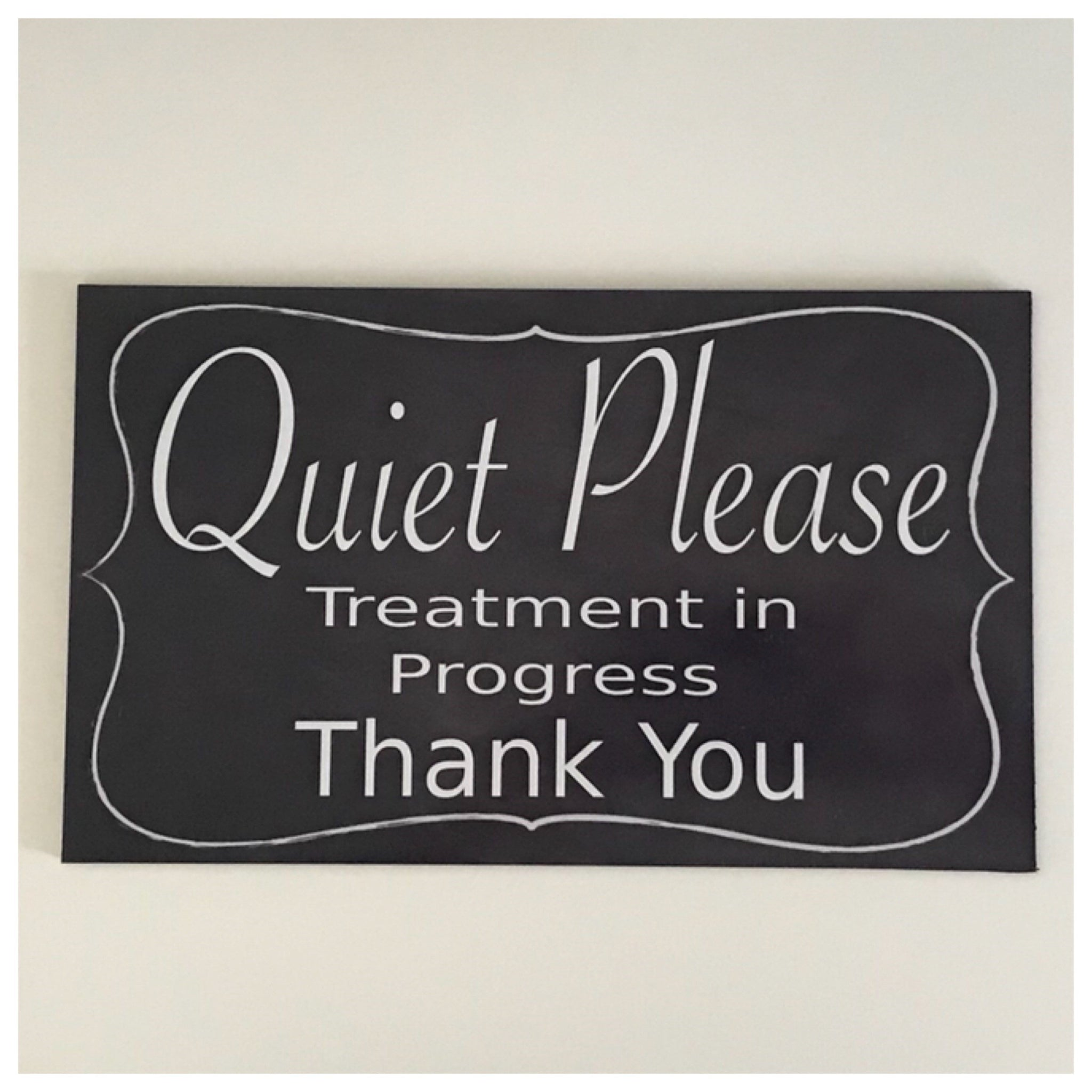 Quiet Please Clinic Treatment Business Room Sign Wall Plaque or Hanging Massage Plaques & Signs The Renmy Store