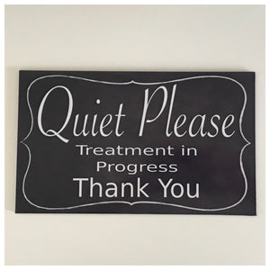 Quiet Please Clinic Treatment Massage Sign