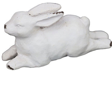 Rabbit White Running Little Cast Iron Decoration - The Renmy Store
