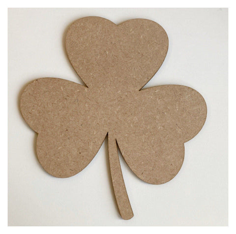 Shamrock Leaf MDF Wooden Shape DIY Cut Out Art Craft Decor