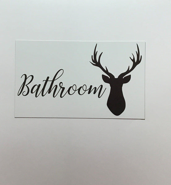 Stag Deer Door Room Sign Toilet Laundry Bathroom - The Renmy Store