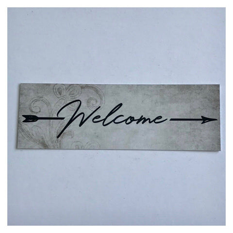 Welcome Vintage with Arrow Sign Wall Plaque or Hanging - The Renmy Store