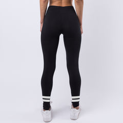 Two Stripe Legging - Black
