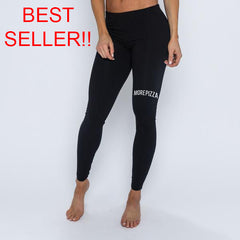 More Pizza More Squats Leggings - Black