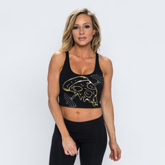 Pizza Bell Crop Tank - Black