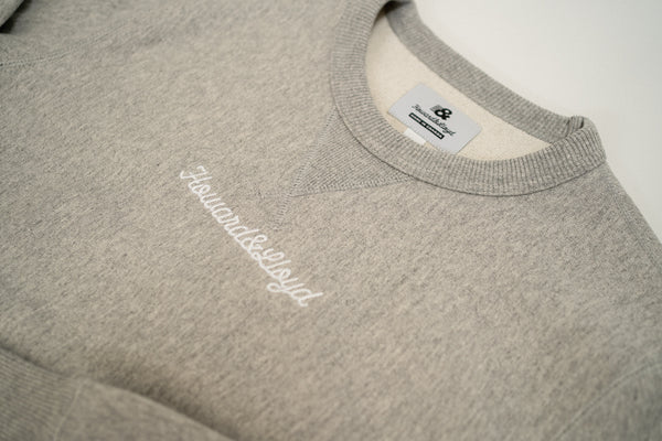 Heavyweight Script Crewneck - Athletic Grey