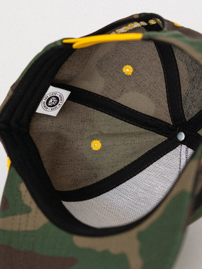 Camo & Gold Rope Hat