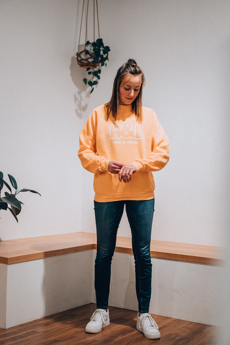 Orange Dye Screenprint Crewneck | Deadstock Collection