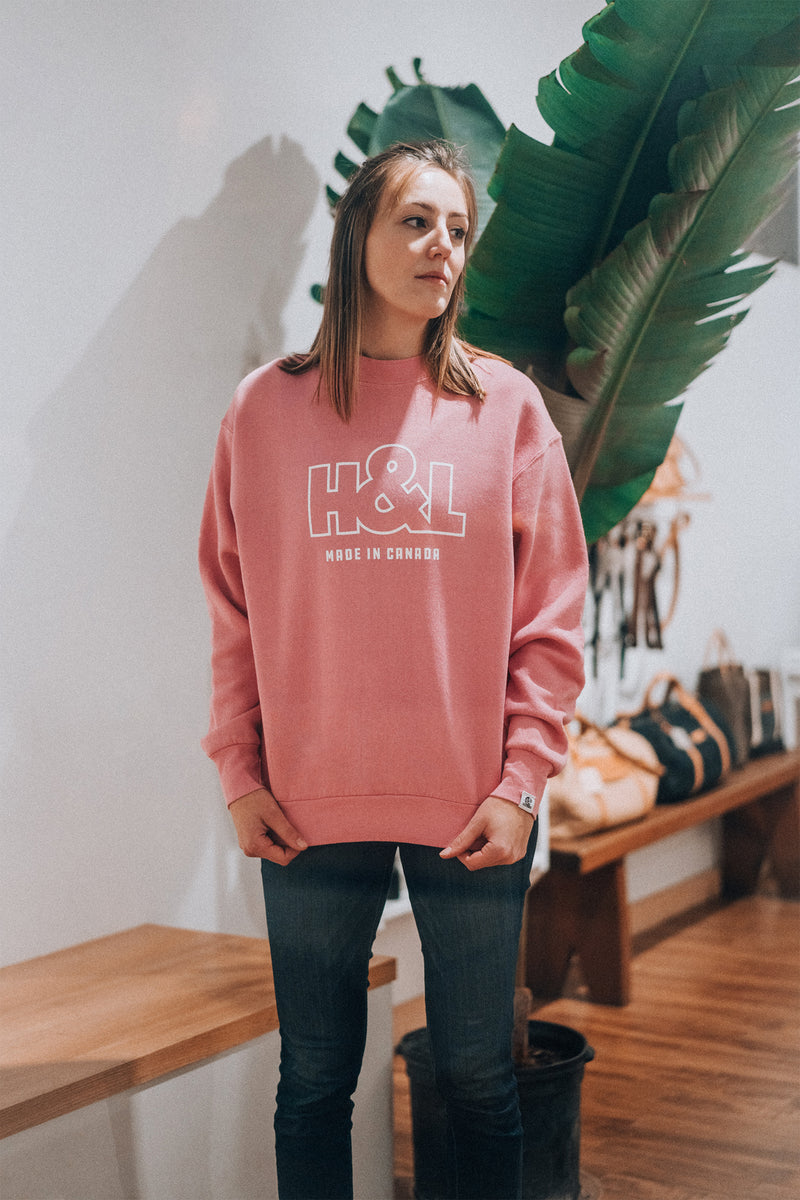 Pink Dye Screenprint Crewneck | Deadstock Collection