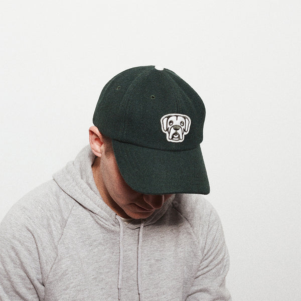 Melton Wool Moose Head Ballcap | Forrest Green