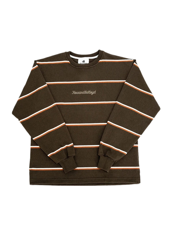 Atlas Striped Rugby Crewneck - Moss