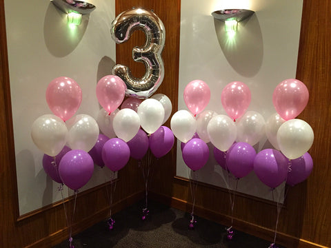 3rd birthday balloon set