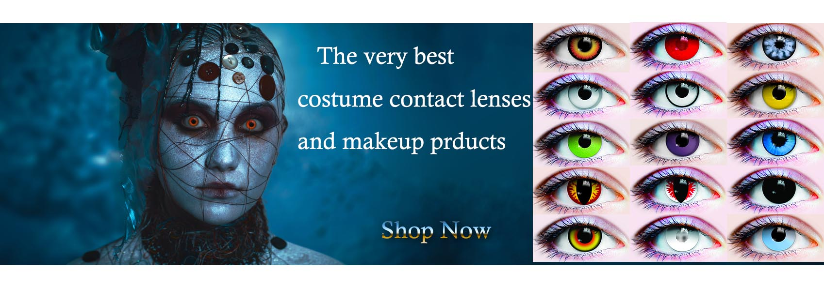 Halloween costume contact lenses