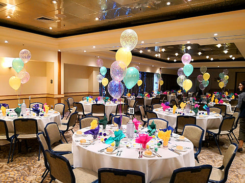 helium balloon bouquets