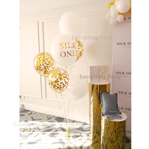 confetti balloon with writing