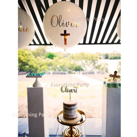 holly communion balloon
