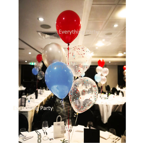 confetti balloon helium balloon set