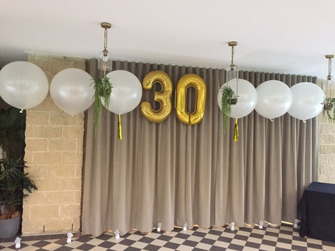3ft jumbo balloon set and number shape foil balloon