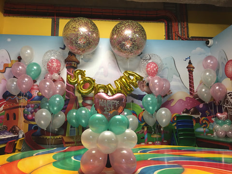 1st Birthday Balloon Decoration