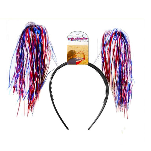 aussie headband, aussie tinsel headband