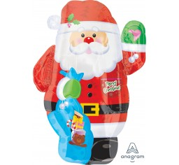 Santa shape balloon