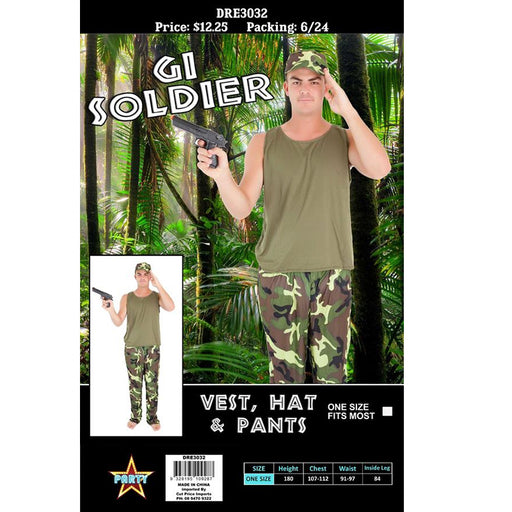 Adult - Gi Soldier Costume