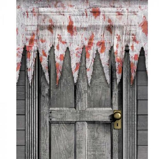 halloween bloody door decoration