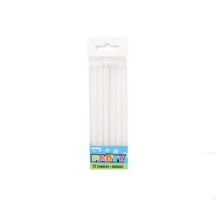 12pk Birthday Candle - White