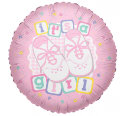 It's a girl foil balloon, baby shower balloon