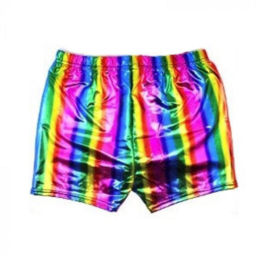Rainbow Metallic Shorts