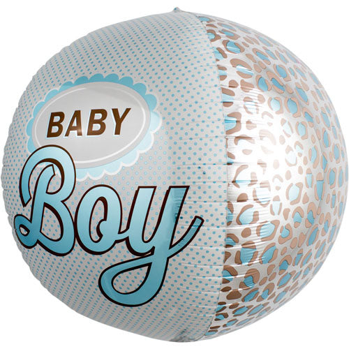baby boy round foil balloon