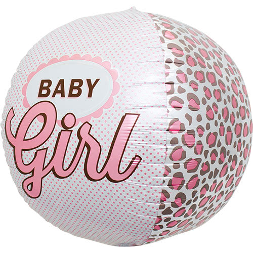 baby girl round foil balloon