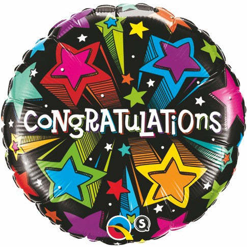 "18"" Congratulations with Stars Foil Balloon"
