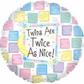 "18"" Twins are Twice as Nice Foil Balloon"