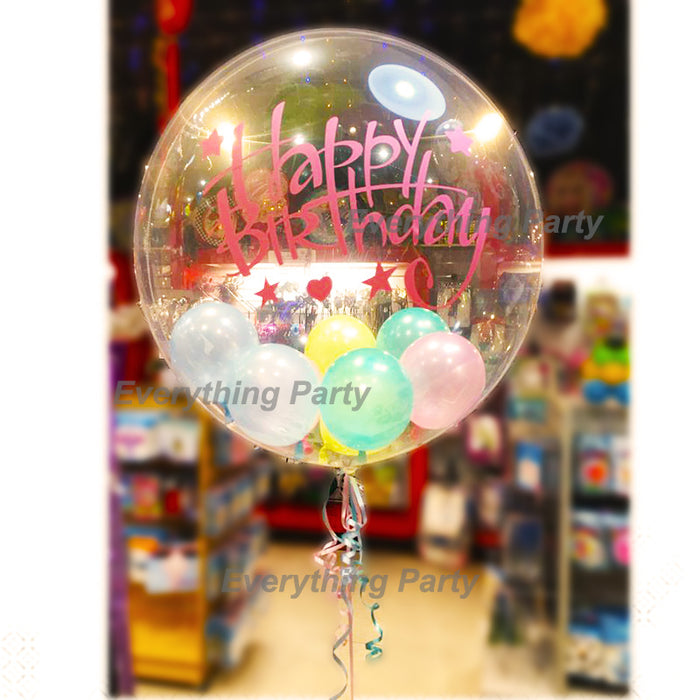 Birthday Helium Gumball Balloon Arrangemnt