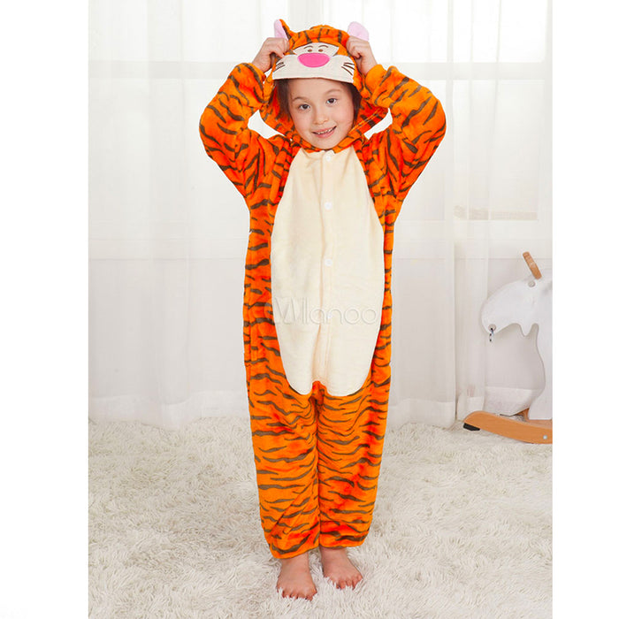 kids tiger onesie, kids animal onesie