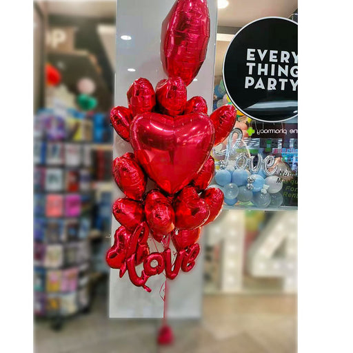 Valentine's Day Foil Heart Balloon Bouquet,Balloon Decoration - Everything Party