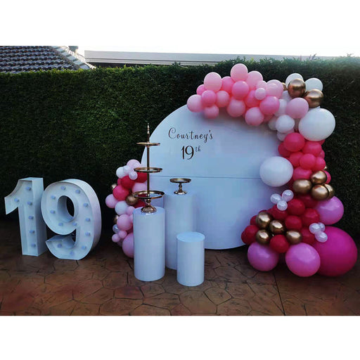 19th birthday balloon garland
