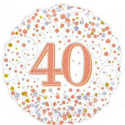 40th birthday foil balloon Rose gold