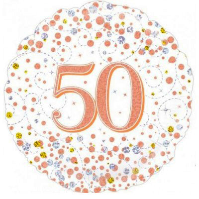 50th birthday balloon Rose gold