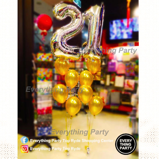 21st birthday balloon decoration