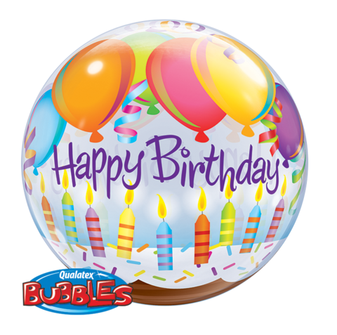 Birthday Bubble Balloon, qualatex birthday balloon