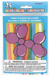 25 Pk Twist & Shape Balloon