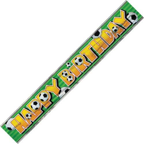 birthday soccer ball banner