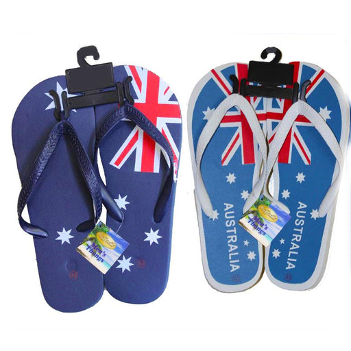 Australia flag design thongs, slippers