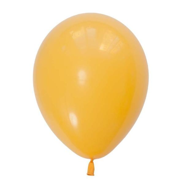 "11"" Qualatex Plain Latex Balloon - Round Fashion Goldenrod"