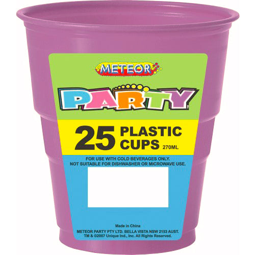 25pk purple plastic cups